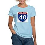 I-40 Highway Women's Pink T-Shirt