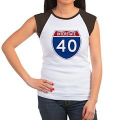 I-40 Highway Women's Cap Sleeve T-Shirt