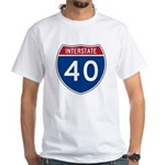 I-40 Highway White T-Shirt