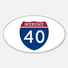 I-40 Highway Oval Decal