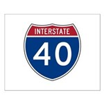 I-40 Highway Small Poster