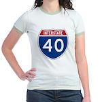 I-40 Highway Jr. Ringer T-Shirt
