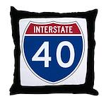 I-40 Highway Throw Pillow