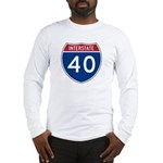 I-40 Highway Long Sleeve T-Shirt