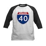 I-40 Highway Kids Baseball Jersey