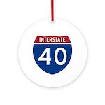 I-40 Highway Ornament (Round)