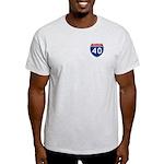 I-40 Highway Ash Grey T-Shirt