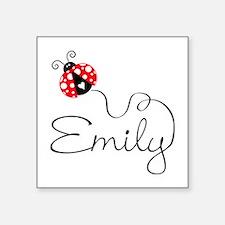 """Ladybug Emily Square Sticker 3"""" x 3"""""""