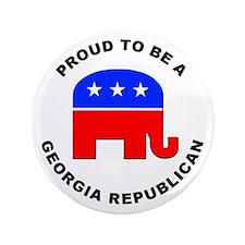 """Georgia Republican Pride 3.5"""" Button"""
