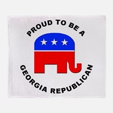 Georgia Republican Pride Throw Blanket