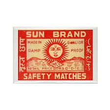 Vintage Indian Matchbook Label Rectangle Magnet