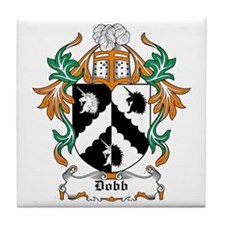 Dobb Coat of Arms Tile Coaster