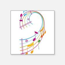 "Music Art Square Sticker 3"" x 3"""