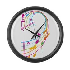 Music Art Large Wall Clock