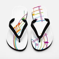 Music Art Flip Flops