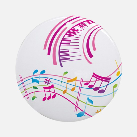 Music Art Ornament (Round)