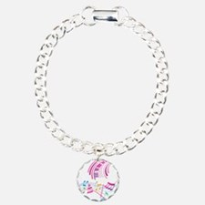 Music Art Charm Bracelet, One Charm