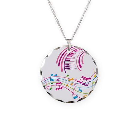 Music Art Necklace Circle Charm