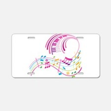 Music Art Aluminum License Plate