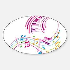 Music Art Sticker (Oval)