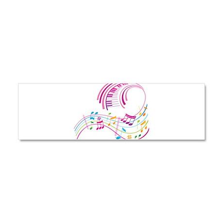 Music Art Car Magnet 10 x 3