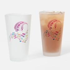 Music Art Drinking Glass