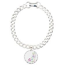 Music Art Charm Bracelet, One Charm