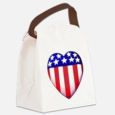MY AMERICAN HEART Canvas Lunch Bag