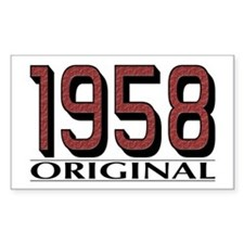 1958 Original Rectangle Decal