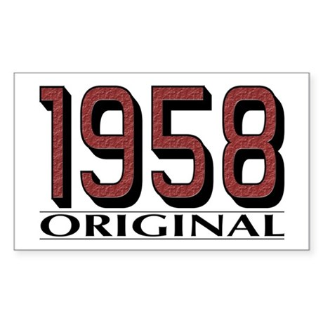 1958 Original Rectangle Sticker