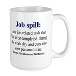 Left-handed Job spill mug