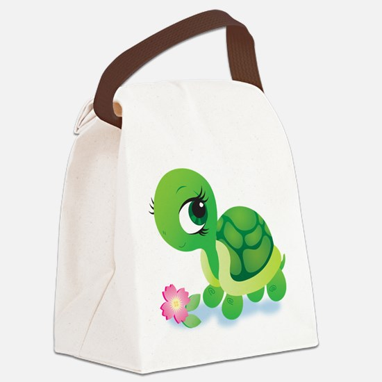 Toshi the Turtle Canvas Lunch Bag