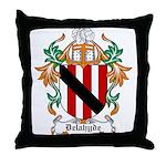 Delahyde Coat of Arms Throw Pillow