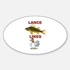 Lance Bass Likes Rooster Oval Decal