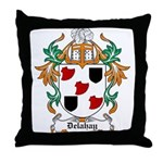 Delahay Coat of Arms Throw Pillow
