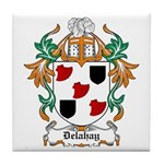 Delahay Coat of Arms Tile Coaster