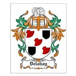 Delahay Coat of Arms Small Poster