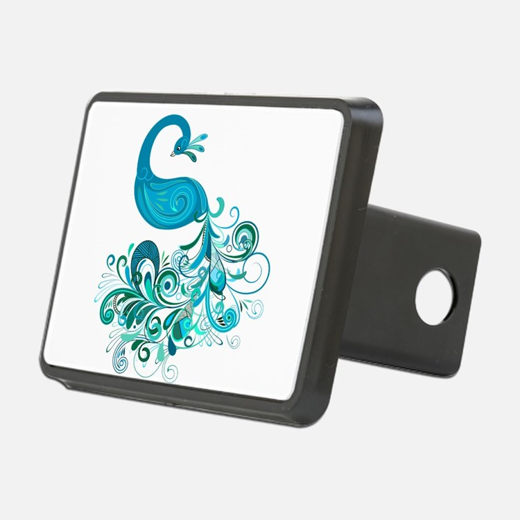 Teal Peacock Hitch Cover