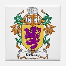 DeLacy Coat of Arms Tile Coaster