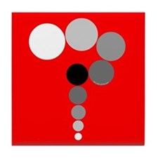 Red Background Question Mark Tile Coaster