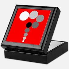 Red Background Question Mark Keepsake Box
