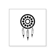 "Native American Culture Square Sticker 3"" x 3"""