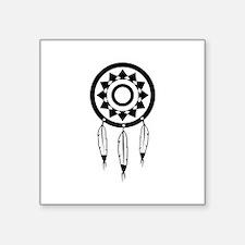 "Native American Culture Square Sticker 3"" x 3"""