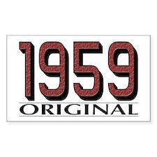 1959 Original Rectangle Decal
