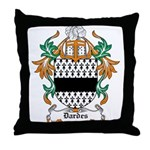 Dardes Coat of Arms Throw Pillow