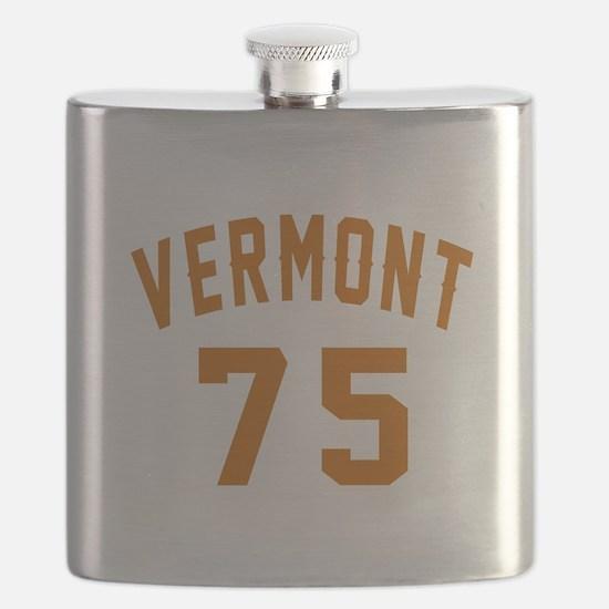 Vermont 75 Birthday Designs Flask
