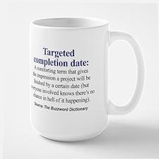 Left-handed Targeted Completion Date Mug