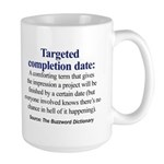 Left-handed Targeted Completion Date Mug