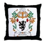 Crosbie Coat of Arms Throw Pillow