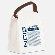 NCIS Gibbs' Rules Canvas Lunch Bag